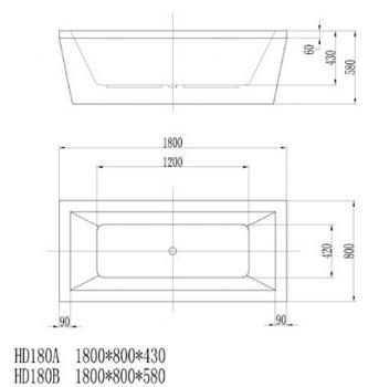 ARTO  浴缸/獨立缸   AR-HD-180B